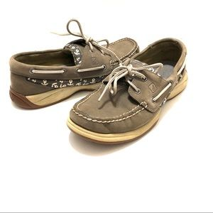 Sperry Grey Top Sider Size 7